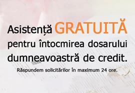 Asistenta gratuita la creditare
