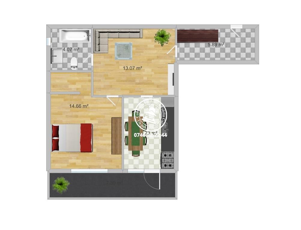 Apartament Nou la revanzare 2 camere  de vanzare  Nicolina,