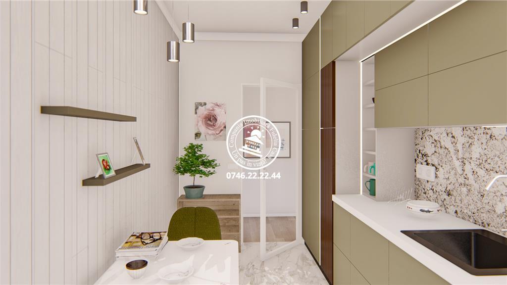 Apartament Nou 3 camere  de vanzare  Bucium,