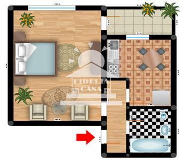 Apartament 1 camera  de vanzare  Tatarasi - Oancea,