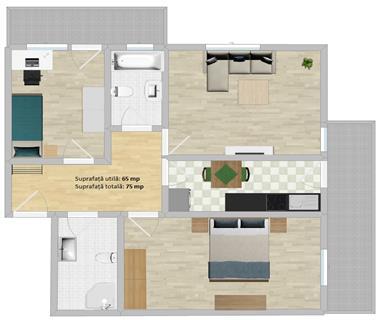 Apartament Iasi, 3 camere, Bucium
