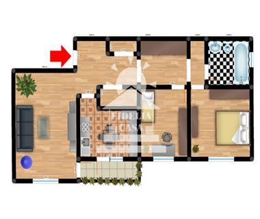 Apartament 3 camere  de vanzare  Dacia,
