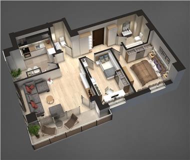Apartament Nou 3 camere  de vanzare  Tudor Vladimirescu,