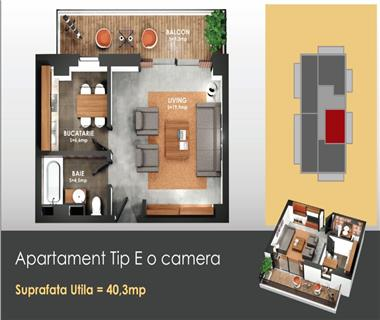 Apartament Nou 1 camere  de vanzare  Copou,