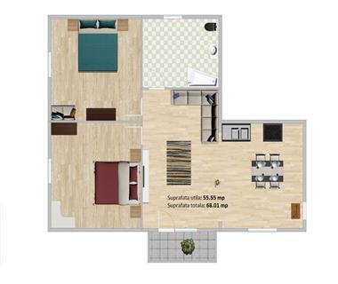 Apartament Nou 3 camere  de vanzare  Tatarasi - Dancu,