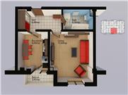Apartament nou cu 1 camera